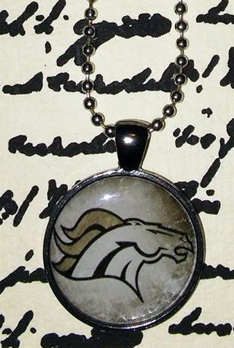 Gunmetal Denver Broncos Necklace