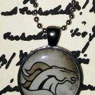 Gunmetal Denver Broncos Necklace