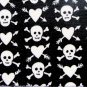 Punky Heart and Skull Custom Ceiling Fan Blades
