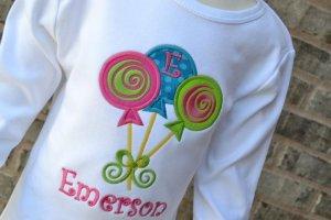 Applique Lollipops T