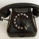 Vintage Rotary Phone Iskra Yugoslavia Bakelite ATA Black Mid Century Phone1950s