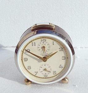 1950s Vintage JUNGHANS TRI-VOX SILENTIC  German Alarm clock Table