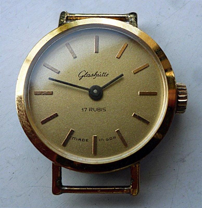 Rare Women's GLASHUTTE Handwinding German Wristwatch 17 rubis