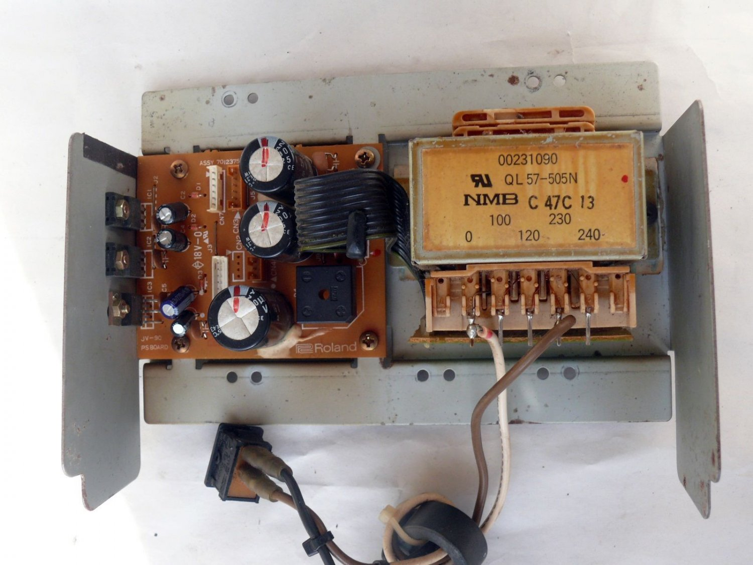 Power supply assembly, for Roland keyboard JV-90   synthesizer