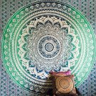 Indian Decor Mandala Tapestry Wall Hanging Hippie Throw Bohemian Twin Bedspread Ombre