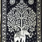 Indian Tapestry Wall Hanging Mandala Throw Elephant Tree Of Life Psychedelic New