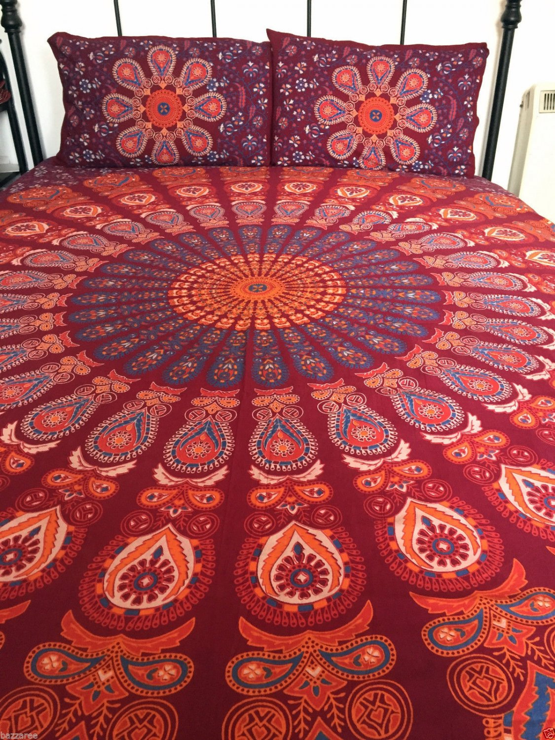 Indian Tapestry Wall Hanging Mandala Throw Bedspread Gypsy Pillow Cover Double