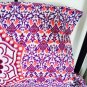 New Indian Purple Ombre Mandala Hippie Bohemian Double 2 Pillow Cover Wall Hanging