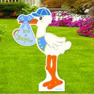 It's a New Baby Boy Lawn Stork Sign  4 Foot-Tall Welcome Announcement Yard Decoration
