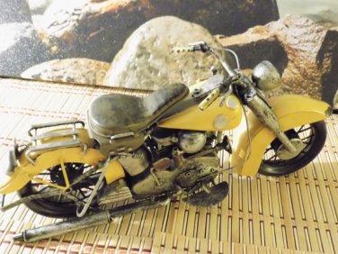 RARE Tin / Metal Motor Bike 14' L x 5' H