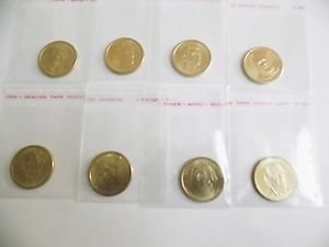 Presidential Dollar Coins Set of 8