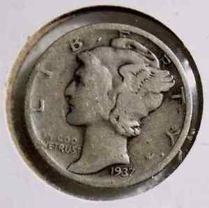 1937 Mercury Dime 10C