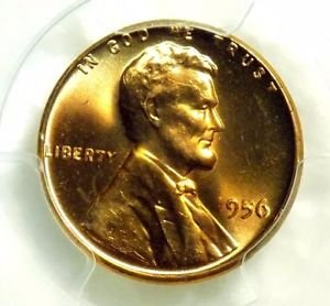 1956 Lincoln Cent PCGS  MS65RD