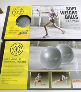 New Gold's Gym SOFT WEIGHT BALLS 3 LB PAIR