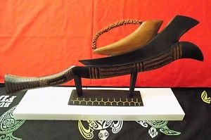 Fiji Islands Warrior War Club Weapon Handcrafted with Stand