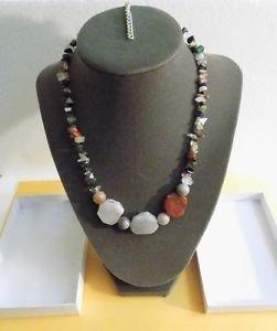 Multi Color Gemstone Necklace 20 Inch