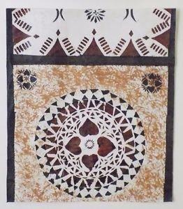 Vintage Handmade Barkcloth Fiji Islands Tapa Masi