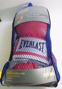 Everlast Level 1 Boxing Wrist Wrap Training Gloves red 12 oz. NWT