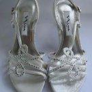 Nina New York-Garland Evening Sandals Silver Women's sz 6.5M