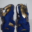 Mossimo Sz 9 Blue High Heels Open Toe Used