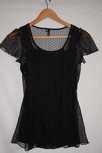 Maurices Small Black LaceTop