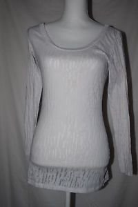 DOTS brand Ladies Sheer Long Sleeved Top Stretch Sz M