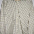 Liz Claiborne XL Yellow/Silver Plaid Button up