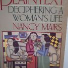 Plaintext by Nancy Mairs 1987 PB