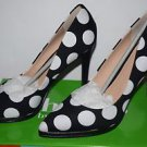 Charles by Charles David Women's Sz 8.5M Polka Dot Plateau Platform Pump