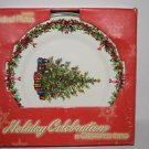 Christopher Radko 4 Salad Plates Christmas Traditions Holiday Celebrations