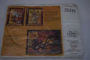 "Golden Autumn"" #0328 by Creative Circle Embroidery Kit 1983 12""x16"