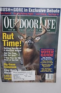 Outdoor Life Magazine (November 2000) Rut Time!