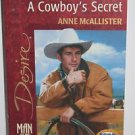 A Cowboy's Secret (Code Of The West) (Silhouette Desire, No 1279)