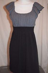 Speechless Black Grey Size Small S Junior Dress Tie Waist