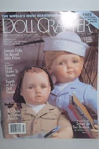 "Doll Crafter MagazineJuly 1993 Pattern Included for 16"" Doll"