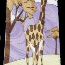 Giraffe Animal Purple Cartoon Fancy Novelty Neck Tie