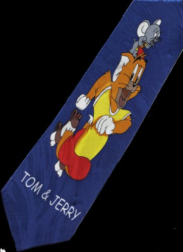Tom and Jerry Cat Mouse Cartoon Fancy Novelty Neck Tie