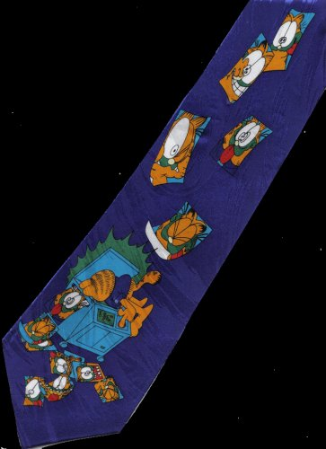 Garfield Cat Playful Cartoon Fancy Novelty Neck Tie