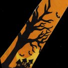 Halloween Haunted Ghost House Bat Fancy Novelty Neck Tie