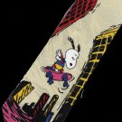Snoopy City Skating Cartoon Fancy Novelty Neck Tie