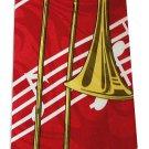 Bass Trombone Musical Instrument Music Fancy Novelty Neck Tie