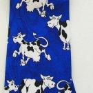 Blue Cow Animal Fancy Novelty Neck Tie