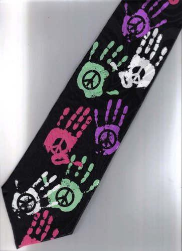 Peace Punk & Rock Fancy Novelty Neck Tie