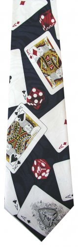 Playing Card Game Dice Ace King Fancy Novelty Neck Tie
