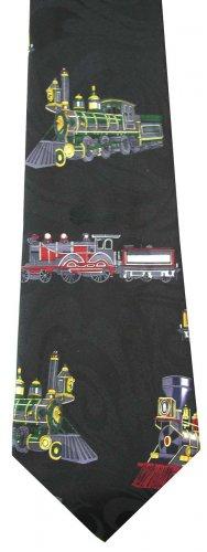 Vintage Train Rail Locomotive Railway Fancy Novelty Neck Tie