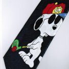 Snoopy Dog Big Play Golf Dark Blue Cartoon Fancy Novelty Neck Tie
