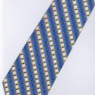 201204 Blue White Yellow Red Stripe Neck Tie
