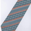 201206 Orange Grey White Stripe Neck Tie