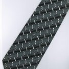 201229 Black White Grey Stripe Neck Tie