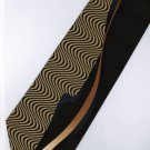 201250 Brown Khaki Black Orange Novelty Neck Tie